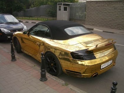 Porsche Covered In Gold (5) 2