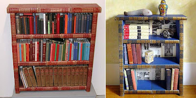 Bookshelves and Bookcases Made of Books (2) 1