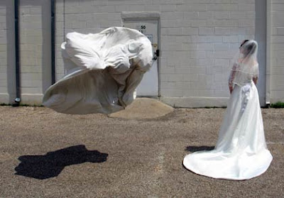 Flying bed sheet