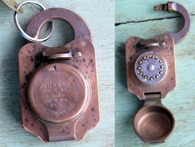 Antique U S Treasury Clarke Combination Lock
