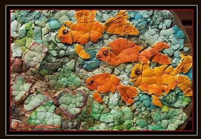 Eggshell Goldfish Mosaic