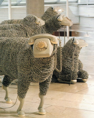 Creative Sheep Sculptures Made From Rotary Telephones (10) 8