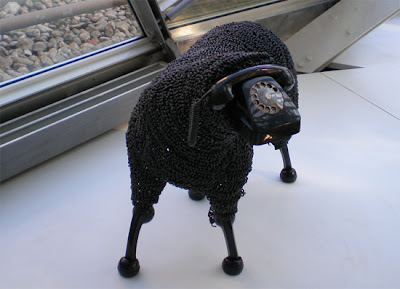 Creative Sheep Sculptures Made From Rotary Telephones (10) 7