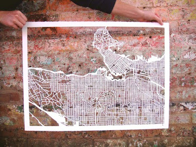 11 Creative and Cool Hand Cut Paper Maps (11) 4