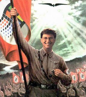 Caricatura Nazi de Bill Gates