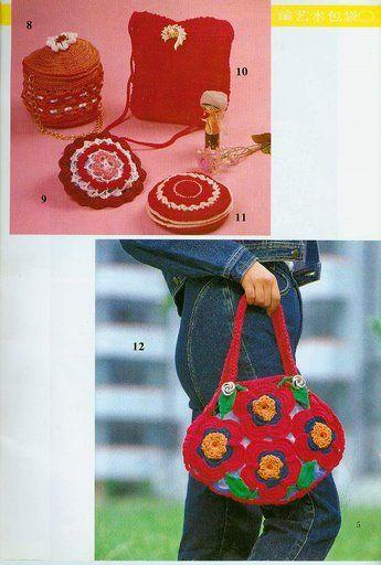 Bolsos divertidos a crochet