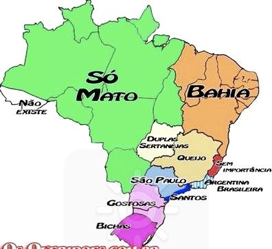 mapa do brasil estados. Mapa do Brasil na visão dos