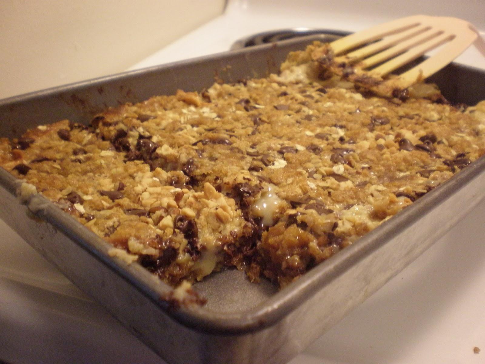 chocolate chip and oatmeal cookie bar aka chocolate chip granola bar s ...