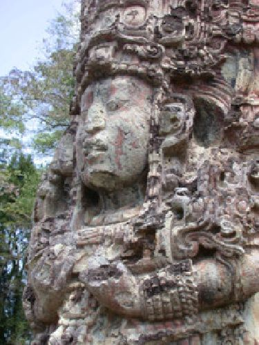 Escultura Maya de Copán / Honduras