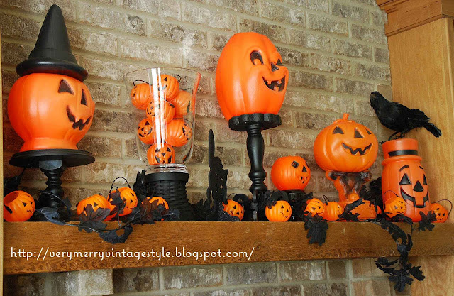 Vintage Halloween Decorations Plastic