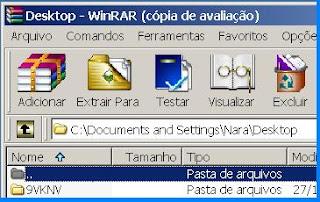 WinRar para descompactar arquivo[imagem]