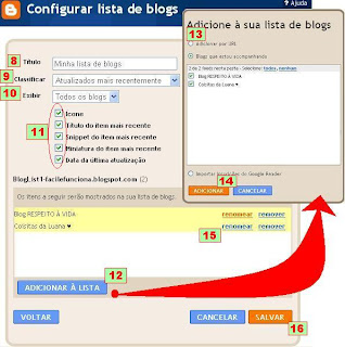 como adicionar lista de links com sites ou blogs favoritos no blogspot