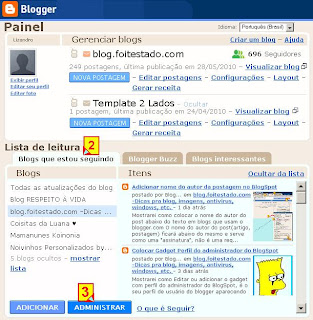 Administrar blogs que sigo no blogger