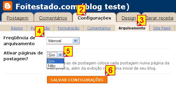 Configurações de arquivamento do blogger pode resolver problemas de posts desapareceram e comentarios não aparece