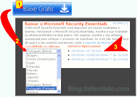 Como baixar antvirus gratis, Microsoft Security Essentials
