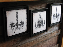 Chandelier canvases...with hip black frames.