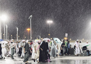 Mekah 19 Nov 2010 – Hujan sepanjang malam semalam, telah menyebabkan