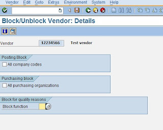 XK05 Block vendor centrally-options