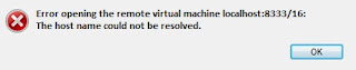 VMware How to: Error opening the remote virtual machine localhost:8333/16: An unexpected error occurred