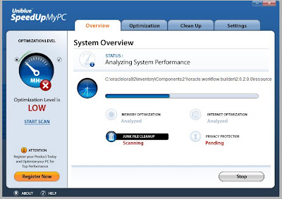 Uniblue SpeedUpMyPC - Performance Scan