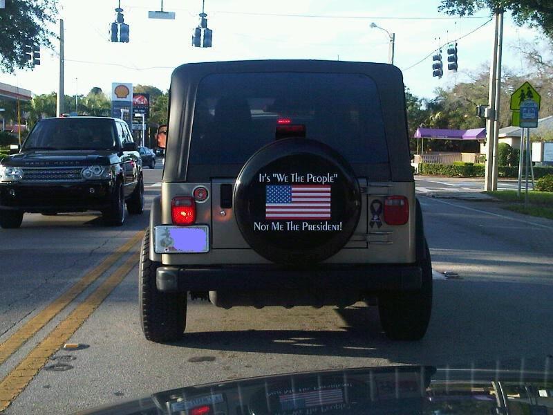 Obumper sticker jeep tire cover