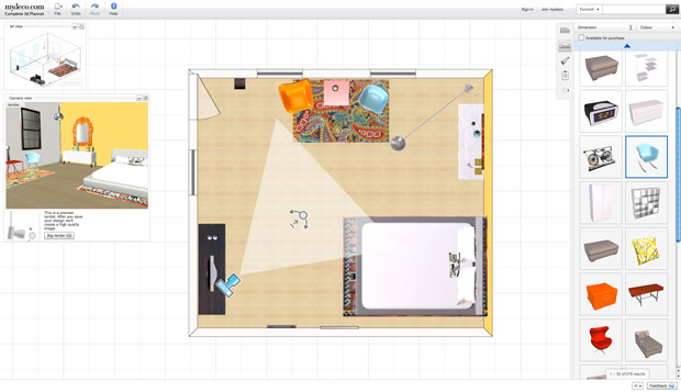 Fyi mydeco interactive room planner for Interactive room planner