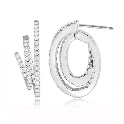 Plus, diamond hoop earrings