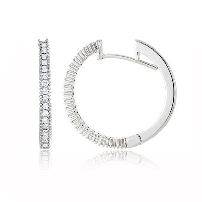 Unique Diamond Hoop Earrings