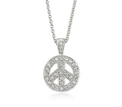 Diamond Peace Sign Necklace