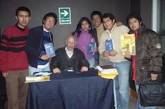 Miguel Garnett con nuestro equipo de la UPN y UNEC