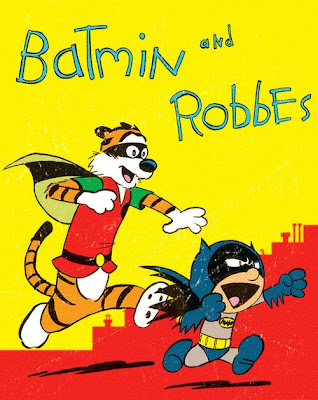 Calvin and Hobbes as Batman and Robin