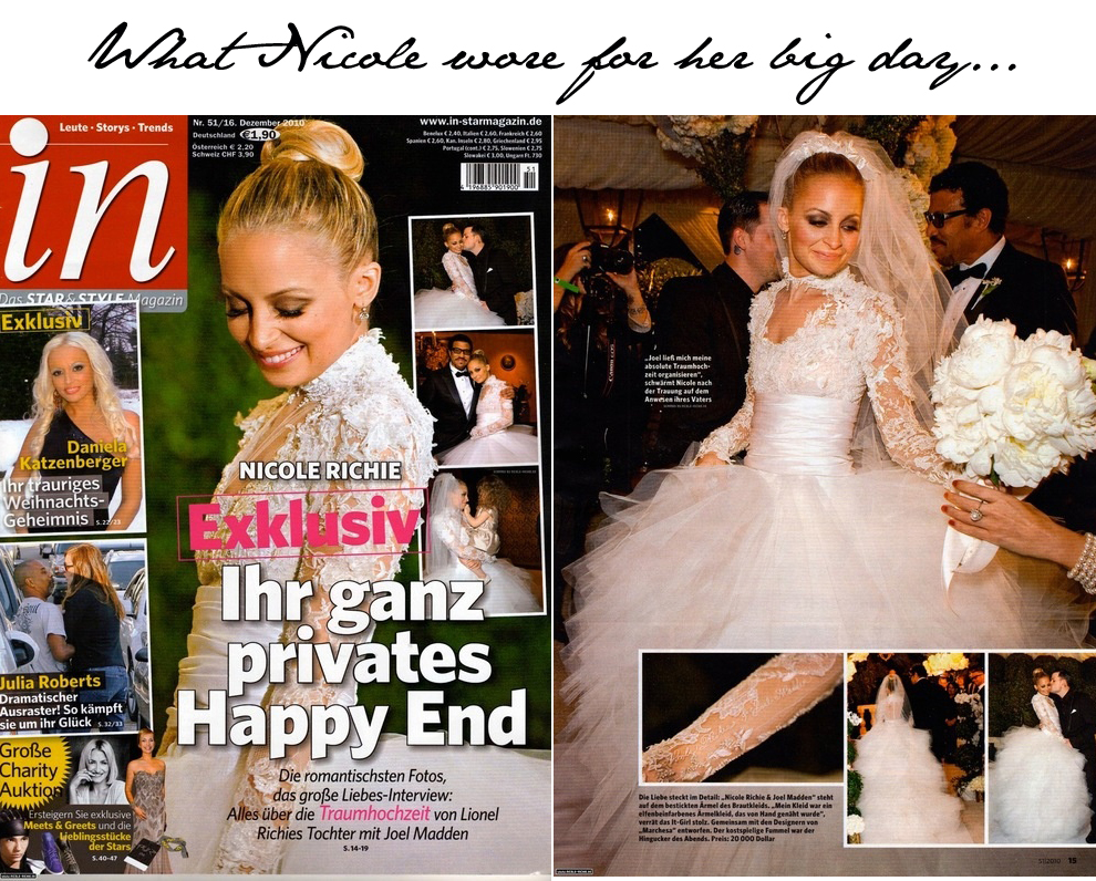 Nicole Richie's wedding dress...more pictures