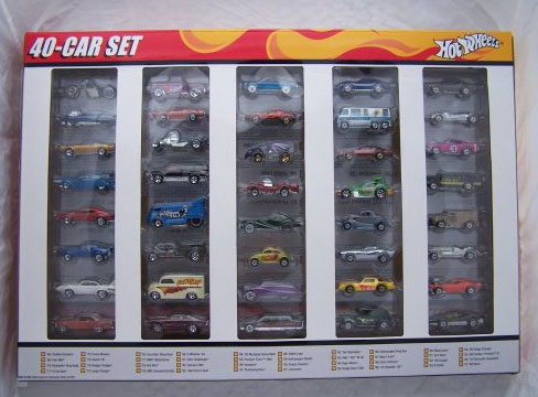 Corvette Stingray Years on Hot Wheels 40th Anniversary 40 Car Set