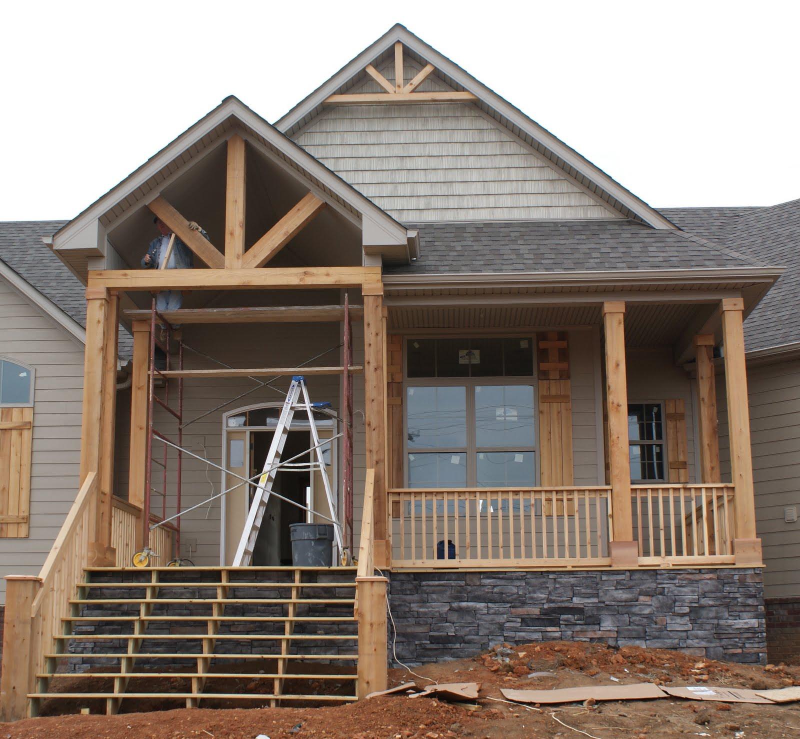 Cedar front porch pictures to pin on pinterest pinsdaddy Front porch blueprints