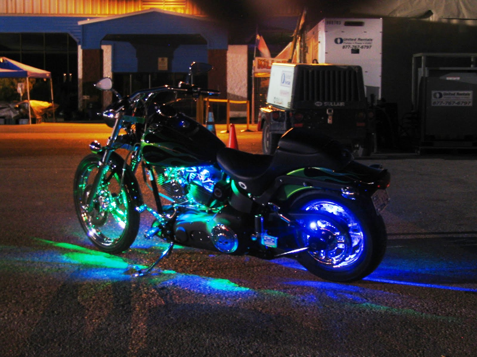motorcycle led accent lighting can increase your visibility to other. Black Bedroom Furniture Sets. Home Design Ideas