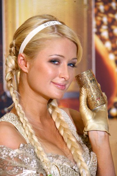 Paris Hilton promoting Paris Hilton fragrance