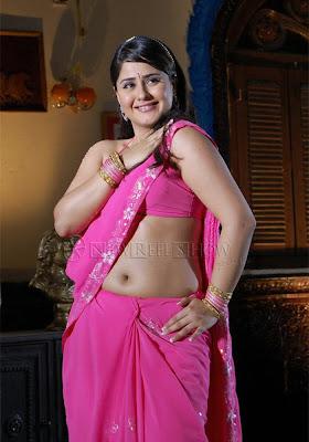 Farzana in pink sari 1