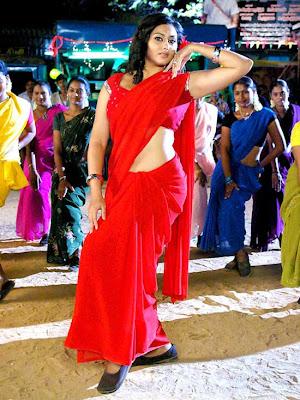 sexy Tamil actress Namitha dances in red sari