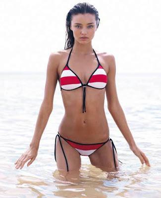 supermodel Miranda Kerr in bikini