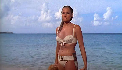 Bond girl Ursula Andress as Honey Ryder in Dr. No