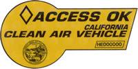 Clean Air Vehicle Decal