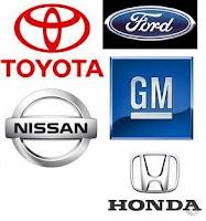 Logos from the Major Car Companies