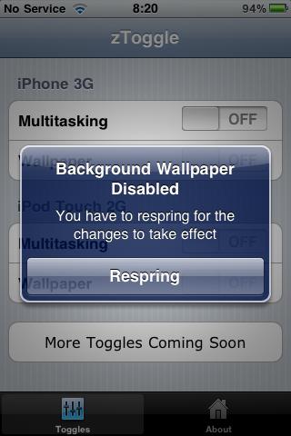 Enable Multi tasking and Background Wallpaper on a Jailbroken