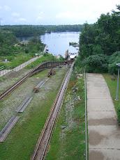 The Big Chute railway tracks