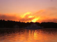 Sunrise leaving Charlevoix