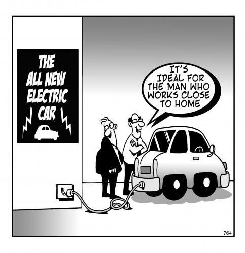 Funny Collection English Cartoon Electric Car