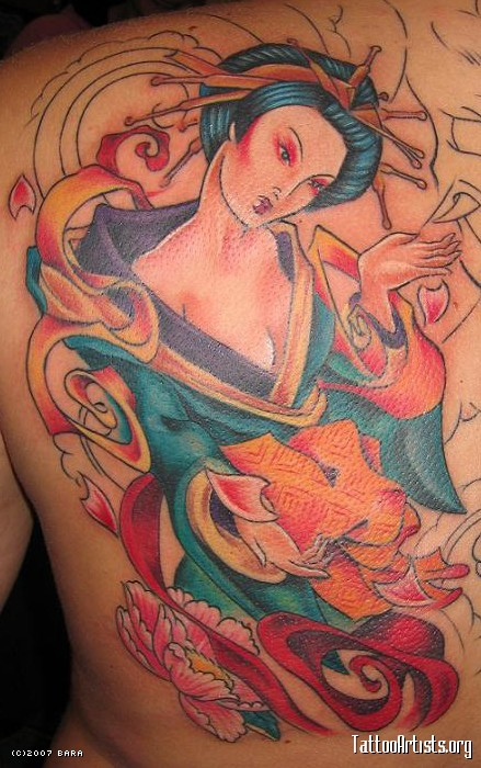 This tattoo is like a painting in the Far East. The Geisha Tattoo was done 6 art japanese girl tattoos , japanese tattoo designs ,asian tribal tattoos