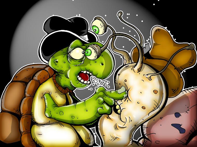 tortugon y caracol por zeht