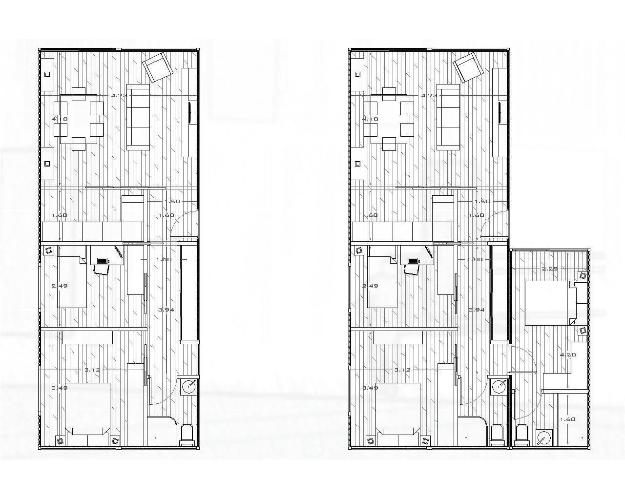 Tercera piel contenedores habitables distribuciones de viviendas contenedor 13 - Viviendas de contenedores ...