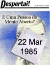 Despertai!22/03/1985
